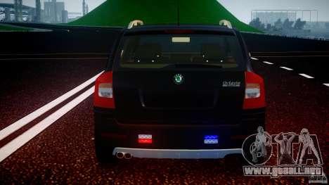 Skoda Octavia Scout Unmarked [ELS] para GTA 4 ruedas