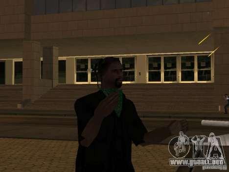Reemplace todas las pieles Grove Street Families para GTA San Andreas segunda pantalla
