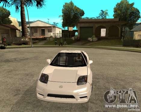 Acura/Honda NSX para GTA San Andreas vista hacia atrás