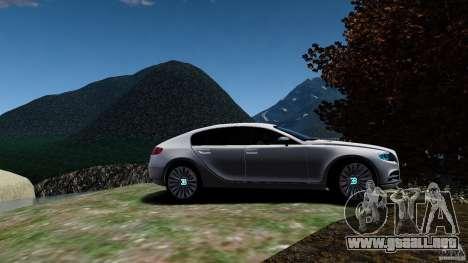 Bugatti Galibier 2009 para GTA 4 vista hacia atrás