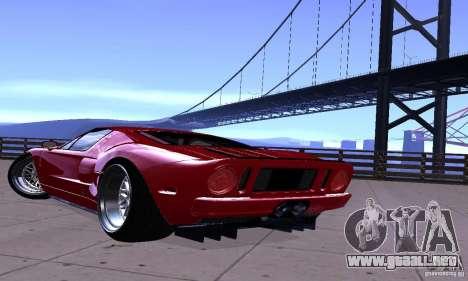Ford GT 2005 para GTA San Andreas vista posterior izquierda
