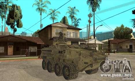Stryker CDMW2 para GTA San Andreas vista hacia atrás