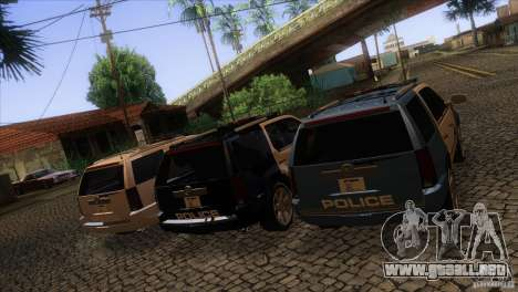 Cadillac Escalade 2007 Cop Car para la vista superior GTA San Andreas