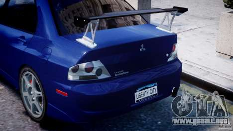 Mitsubishi Lancer Evolution VIII para GTA 4 ruedas