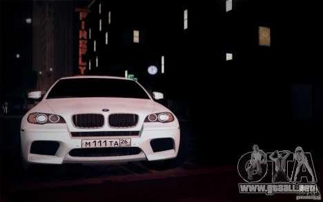 BMW X6M E71 para visión interna GTA San Andreas