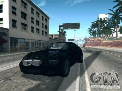 BMW M6 2010 Coupe para visión interna GTA San Andreas