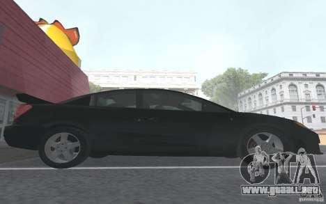 Saturn Ion Quad Coupe para GTA San Andreas interior