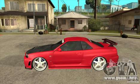 Nissan Skyline GTR-34 Carbon Tune para GTA San Andreas left