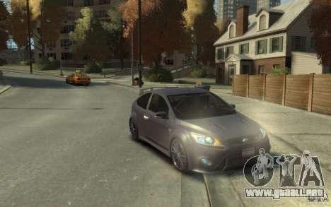 Ford Focus RS 2009 para GTA 4 vista hacia atrás