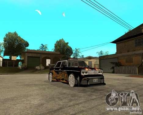 Melodía 2106 VAZ GTX para GTA San Andreas vista hacia atrás