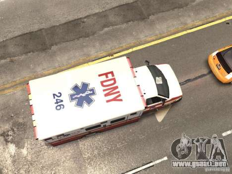 Chevrolet Ambulance FDNY v1.3 para GTA 4 vista superior