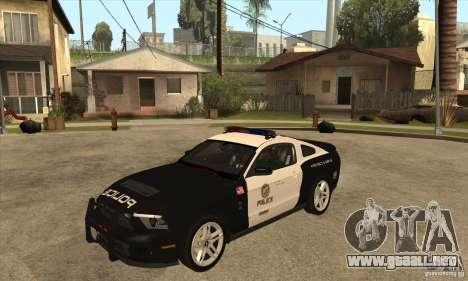 Shelby GT500 2010 Police para GTA San Andreas