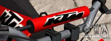 KTM EXC 450 para GTA 4 visión correcta