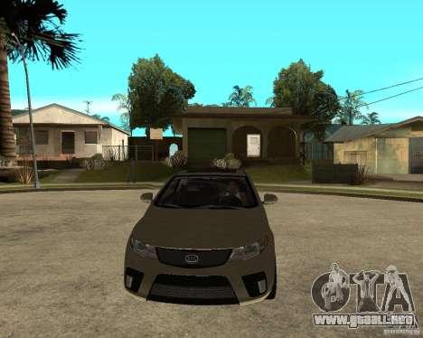 KIA Forte Coup para GTA San Andreas vista hacia atrás