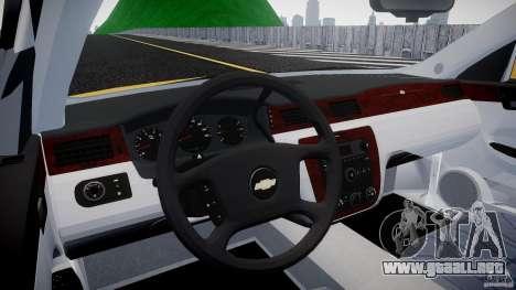 Chevrolet Impala 9C1 2012 para GTA 4 visión correcta