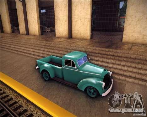Shubert pickup para GTA San Andreas left