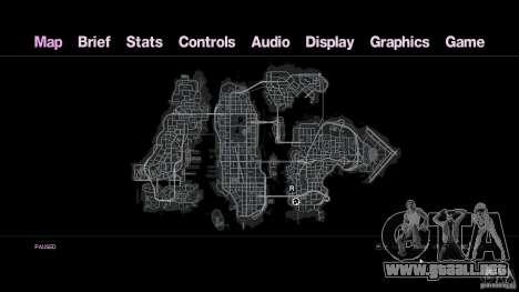 VC estilo Radar/HUD (1 piel) para GTA 4 tercera pantalla