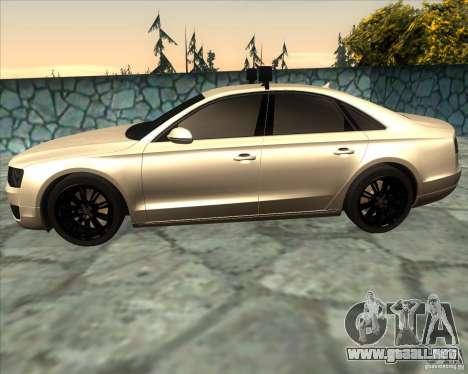 Audi A8 2010 v2.0 para GTA San Andreas left