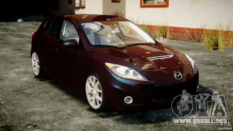 Mazda Speed 3 [Beta] para GTA 4 vista hacia atrás