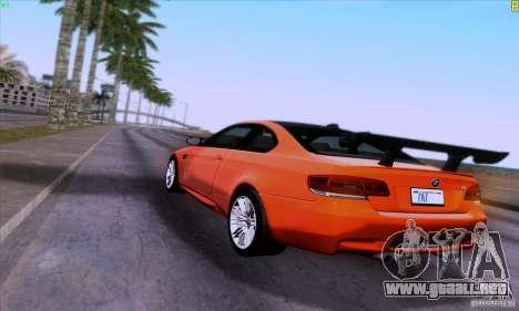 BMW M3 E92 v1.0 para vista lateral GTA San Andreas