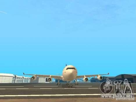 Airbus A340-300 Qantas Airlines para la vista superior GTA San Andreas