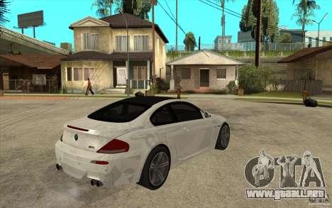 BMW M6 Coupe V 2010 para la visión correcta GTA San Andreas