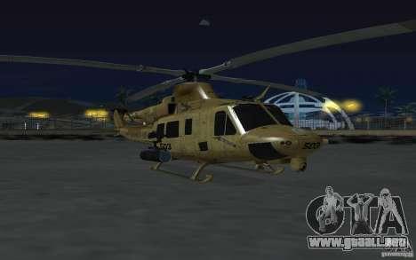 UH-1Y Venom para GTA San Andreas vista hacia atrás