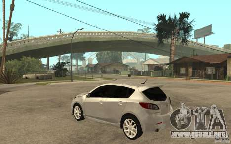 Mazda 3 Mazdaspeed 2010 para GTA San Andreas vista posterior izquierda