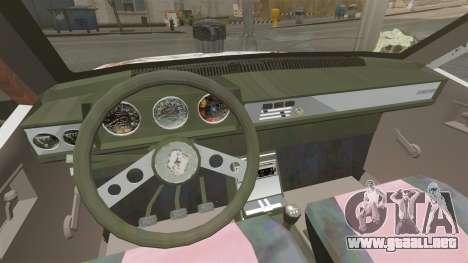 Renault 12 Toros oxidado v2.0 para GTA 4 vista interior