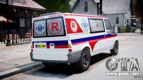Ford Transit Polish Ambulance [ELS] para GTA 4 vista interior