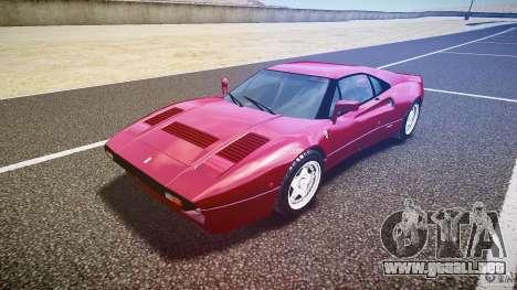 Ferrari 288 GTO para GTA 4 vista hacia atrás