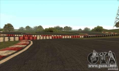 GOKART pista ruta 2 para GTA San Andreas novena de pantalla
