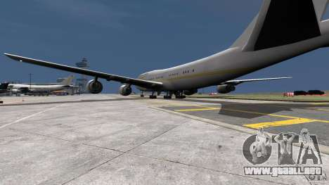 Real Emirates Airplane Skins Gold para GTA 4 left