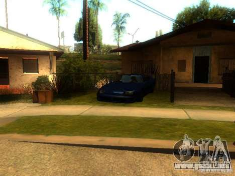 New Car in Grove Street para GTA San Andreas tercera pantalla