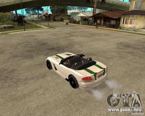 Dodge Viper SRT-10 para GTA San Andreas vista posterior izquierda