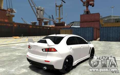 Mitsubishi Lancer Evo X v.1.0 para GTA 4 visión correcta