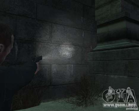 Flashlight for Weapons v 2.0 para GTA 4