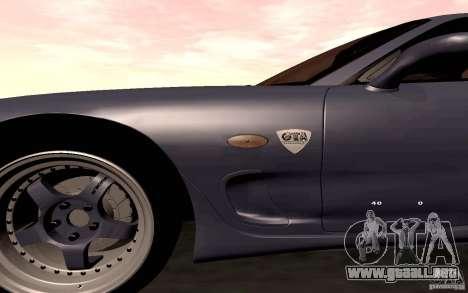 Mazda RX-7 Hellalush para vista lateral GTA San Andreas