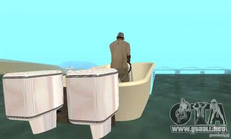 Bathtub Dinghy para GTA San Andreas vista posterior izquierda