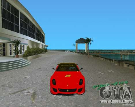 Ferrari 599 GTO para GTA Vice City left