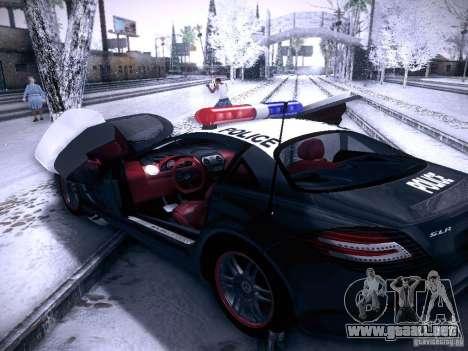 Mercedes-Benz SRL 722 Police para GTA San Andreas vista hacia atrás