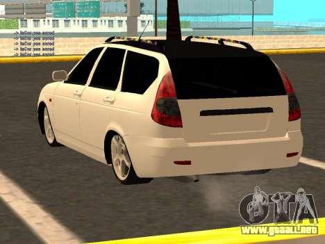 Lada Priora Hatchback para GTA San Andreas vista posterior izquierda