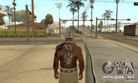 Tatu CJ para GTA San Andreas tercera pantalla