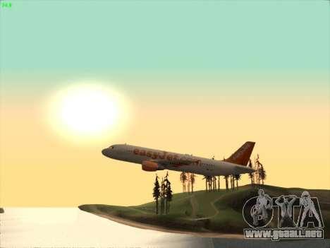 Airbus A320-214 EasyJet para visión interna GTA San Andreas