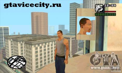 Piercing CJ mod + blanco para GTA San Andreas segunda pantalla