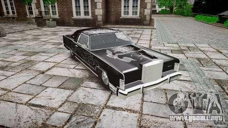 Lincoln Continental Town Coupe v1.0 1979 para GTA 4 vista interior