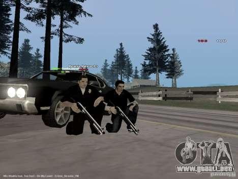 Black & White guns para GTA San Andreas tercera pantalla