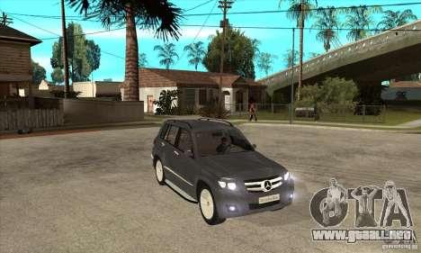Mercedes Benz GLK300 para GTA San Andreas vista hacia atrás