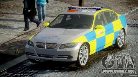 BMW 350i Indonesian Police Car [ELS] para GTA 4 vista hacia atrás