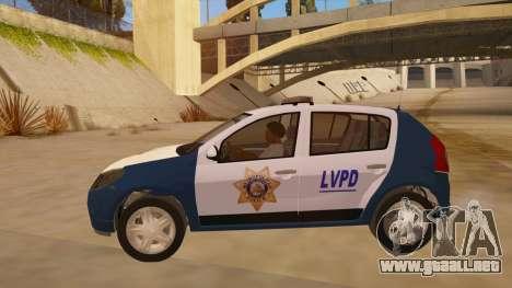 Renault Sandero Police LV para GTA San Andreas left